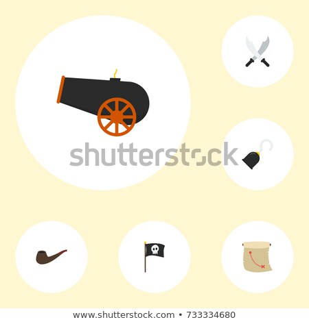 Pirate Sea Bandit Tool Collection Icons Set Vector Stock photo © pikepicture