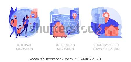 Human legal migration abstract concept vector illustrations. Stock photo © RAStudio