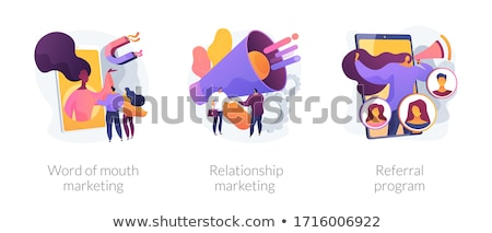 Word of mouth marketing abstract concept vector illustration. Stock photo © RAStudio