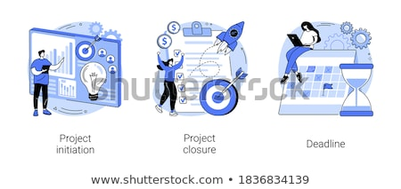 Projekt absztrakt befejezés folyamat elfogadás végső Stock fotó © RAStudio