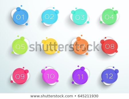 circular bullet points numbers from one to twelve Stock photo © SArts
