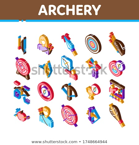 Archery Activity Sport Isometric Icons Set Vector Stock photo © pikepicture