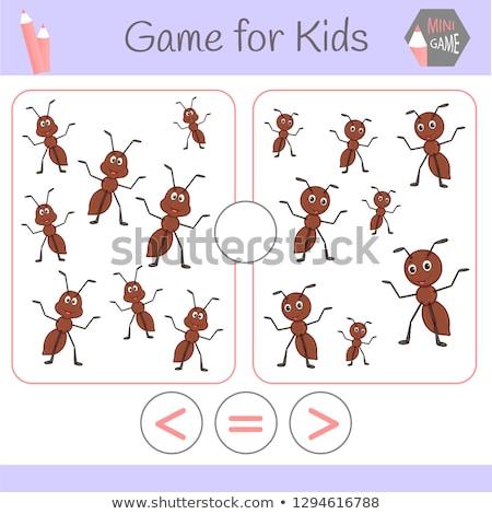 Mniej równy gry dzieci cartoon ilustracja Zdjęcia stock © izakowski