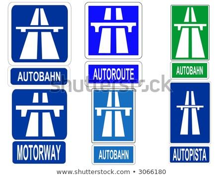 Швейцария шоссе знак зеленый облаке улице знак Сток-фото © kbuntu