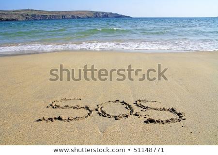 sos · strand · golven · achtergrond · zomer · oceaan - stockfoto © morrbyte