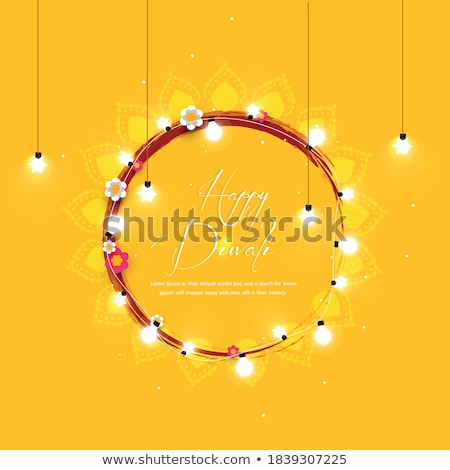 abstract diwali concept with deepak Stock photo © pathakdesigner