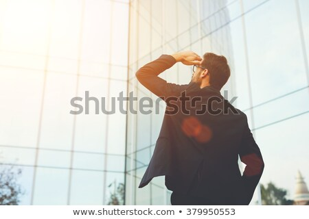 businessman looking for something Stock photo © goryhater