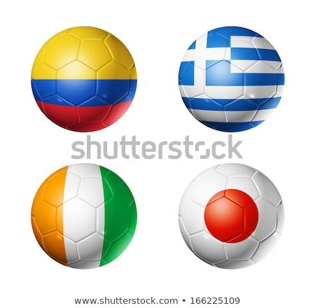 ギリシャ語 · サッカー · 草 · ギリシャ · フラグ - ストックフォト © creisinger