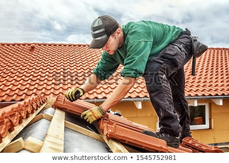 Roofer with tiles Stock photo © photography33