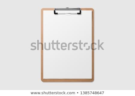 Clipboard branco eps 10 fundo metal Foto stock © jara3000