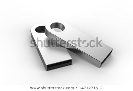 Gekleurd usb pen geïsoleerd kantoor sleutel Stockfoto © gant