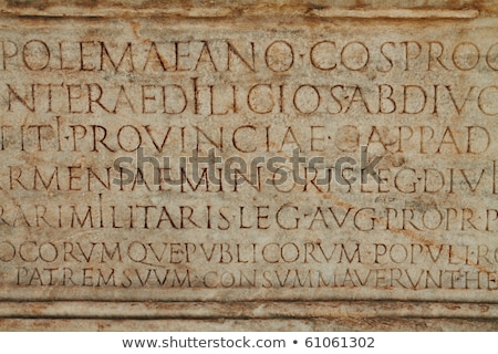 Ephesus Latin Carving Stock photo © Kacpura