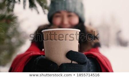 женщину · кружка · кофе · девушки · женщины · счастливым - Сток-фото © photography33