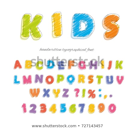 Colorful Alphabet and Number Stock photo © vectomart