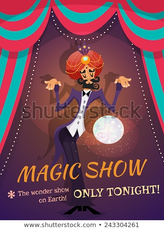 Trendy Circus Poster Stock photo © benchart