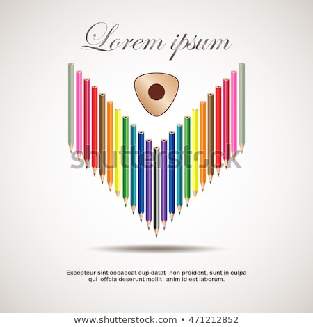 Triangular color pencils Stock photo © grafvision