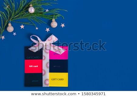 Azul objeto alto cartão de presente gráfico Foto stock © kbuntu