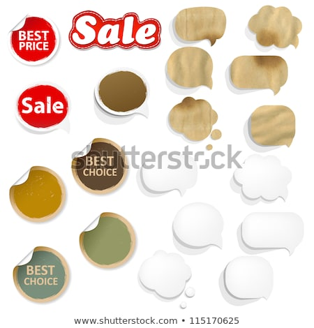 cardboard structure with set paper speech bubble stock photo © adamson