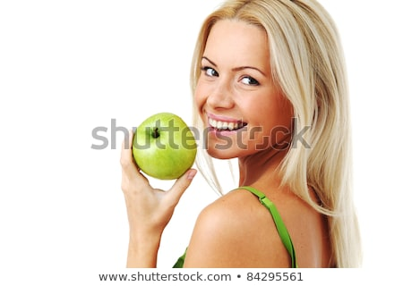 Blonde woman and an apple Stock photo © photography33