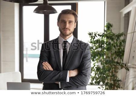 Retrato banco director empresario ley escritorio Foto stock © photography33