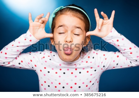 child pulling faces stock photo © photography33