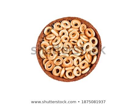 small bagels in basket Stock photo © shutswis
