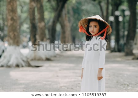 Little girl stood by tree Stock photo © photography33