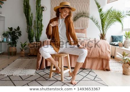 ファッショナブル · 女性 · 現代 · インテリア · モデル · 髪 - ストックフォト © konradbak