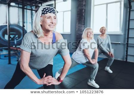 Vieille femme réhabilitation classe femme bureau gymnase Photo stock © photography33