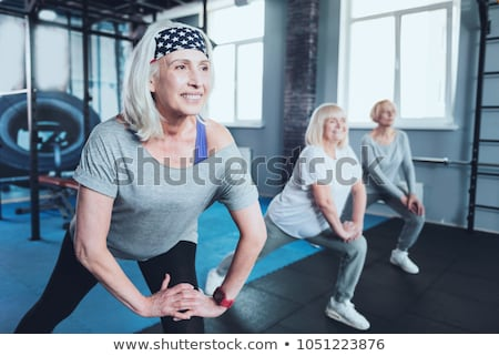 старуху реабилитация класс женщину служба спортзал Сток-фото © photography33