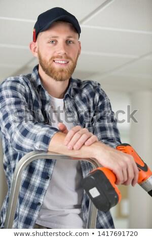 Młodych handlowiec śrubokręt baseball narzędzia Zdjęcia stock © photography33