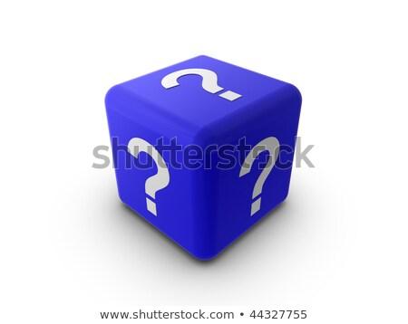 Blue Question Dice stock photo © 3mc