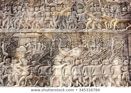 angkor wat bas reliefs stock photo © alexeys