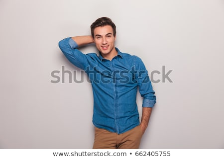 Stock photo: relaxed man holding hand in pocket