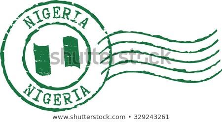 пост штампа Нигерия напечатанный изображение Сток-фото © Taigi