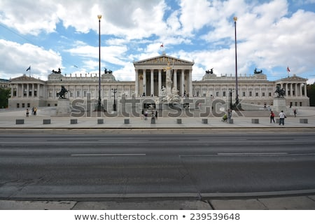 Austrian parliament building (Hohes Haus) in Vienna Stock photo © AndreyKr