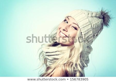 belo · loiro · senhora · antiquado · estilo - foto stock © aetb