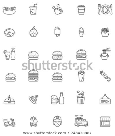 Hamburger Icon Set Stockfoto © tele52
