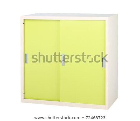 Steel cabinet in bright green great to storage all files Stock photo © JohnKasawa