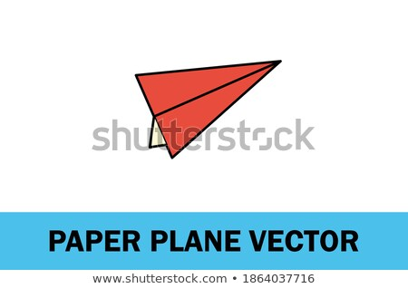 airplane on start vector illustration for designers stock photo © leonido