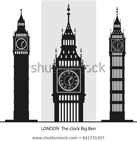 London Big Ben silhouette stock photo © Refugeek