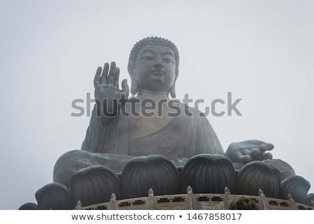 île misty géant buddha couleur Photo stock © zkruger