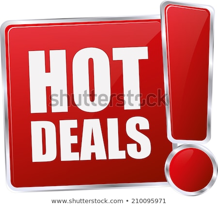 Hot deal Rood 3d tekst geïsoleerd witte Stockfoto © tashatuvango