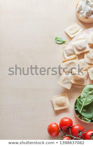 Surowy ravioli składniki tle gotować świeże Zdjęcia stock © M-studio