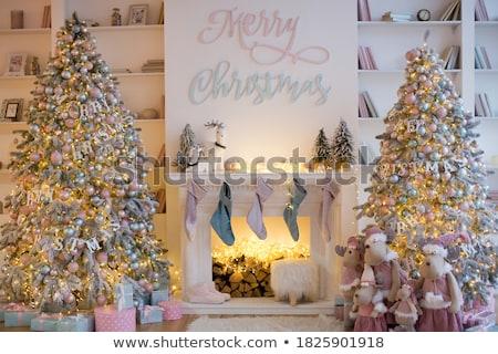 Ev ağaçlar sembolik star biçim ev Stok fotoğraf © 5xinc
