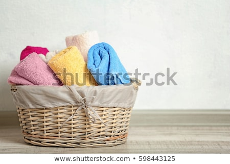 Rolled red and blue towels Stock photo © Discovod