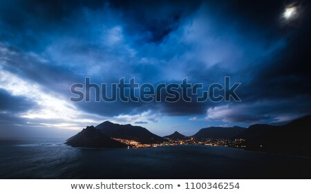 hout bay and the moon stock photo © bradleyvdw