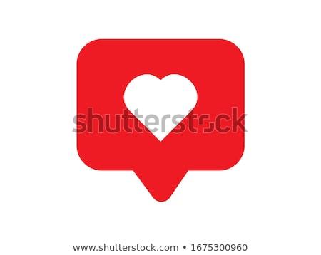 Coração como dom grande vermelho fita Foto stock © EllenSmile