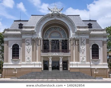 statua · fronte · Opera · casa · due · angeli - foto d'archivio © Klodien