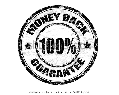 Stock photo: Round stamp with text 100% Guarantee